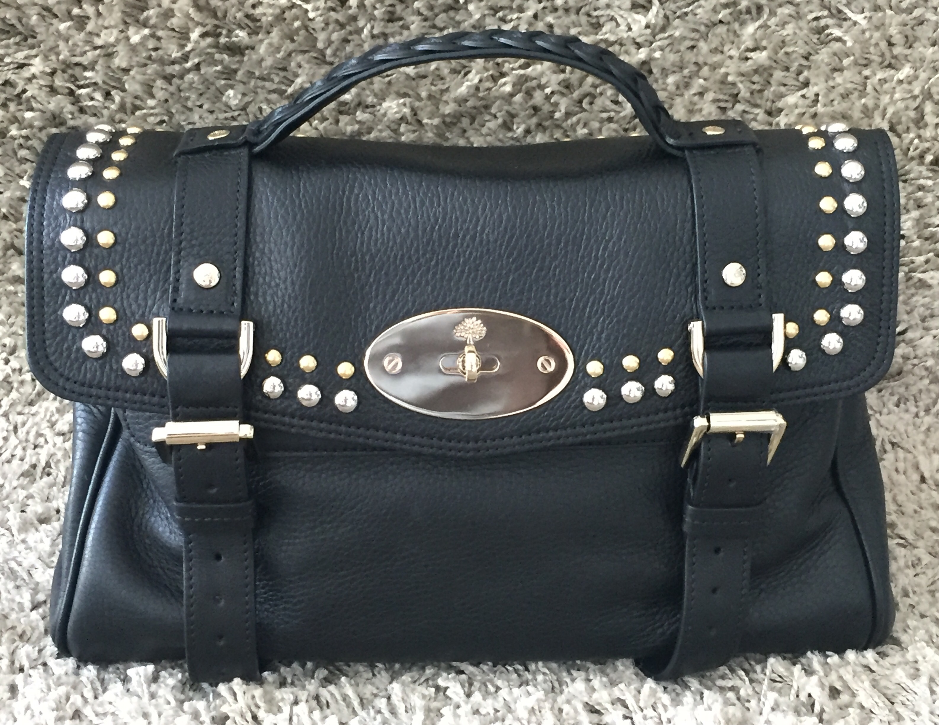 New Bag Alert… Introducing the Mulberry Alexa Soft Grain with Rivets ... 69303b2737